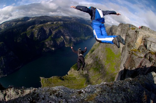Base jumping. Source: Wikipedia