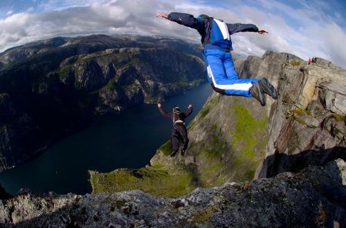 Base jumping. Source: Wikipedia