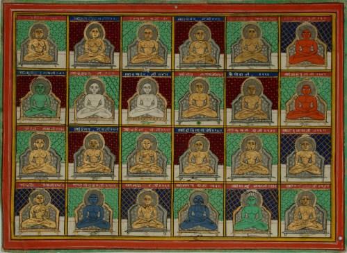 The 24 Tīrthaṅkars of Jainism. Source - Public Domain