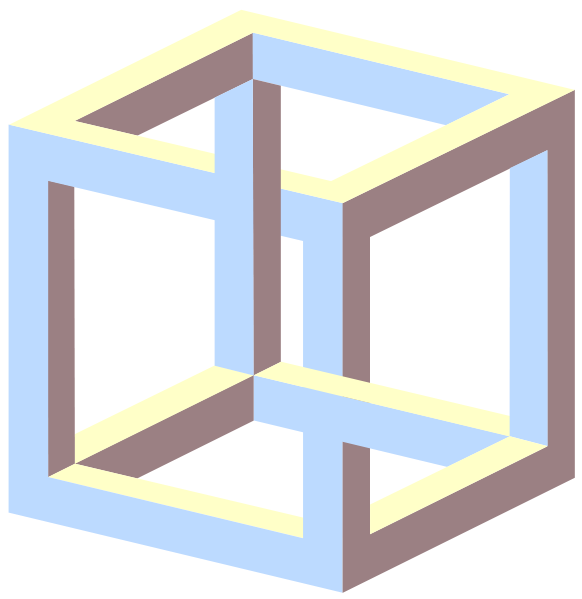 An Example Of A Paradox Impossible Cube Source Wikipedia 4C