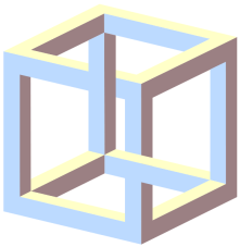 An example of a paradox, an impossible cube. Source: Wikipedia 4C