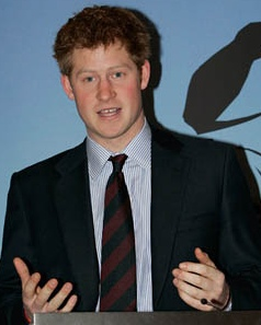 Prince Harry, natural redhead