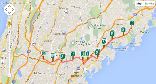 20 mile run to Rye, New York in frigid cold