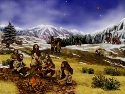Neanderthals_-_Artist's_rendition_of_Earth_approximately_60,000_years_ago